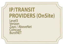 IP/Transit Providers On-Site