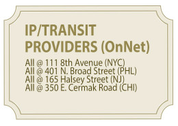 IP/Transit Providers On-Net